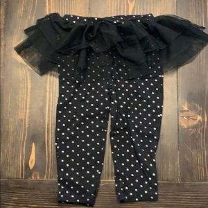 Polka dot tutu leggings